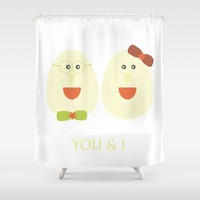 Society6 - You And I Shower Curtain by Nandita Singh