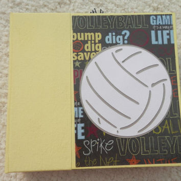 6x6 Chipboard Volleyball Scrapbook Photo Album