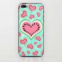 Watermelon Love... iPhone & iPod Skin by Lisa Argyropoulos | Society6