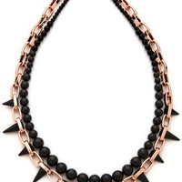 Midnight Rose Long Chain & Spike Necklace