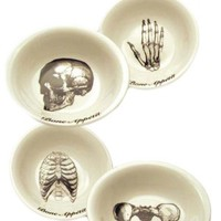 Bone Appetit Dipping Bowl Set - Black
