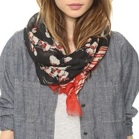 Field Flower Oblong Scarf