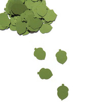 green acorn confetti – fall wedding décor by partyparts – 100 pieces