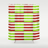 square chevron Shower Curtain by  Alexia Miles photography