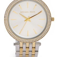Darci Pave Two Tone Watch