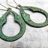 Patina Moroccan earrings Bohemian jewelry by Gypsymoondesigns
