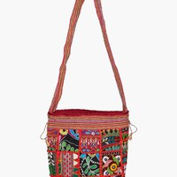 Pia Embroidery Crossbody Bag