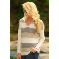 LOVESTITCH:Speak Softly Sweater-Latte