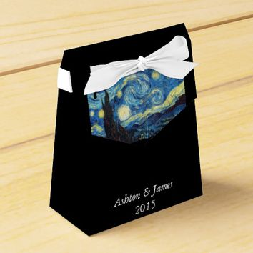 Starry Night Personalized Wedding Favor Box
