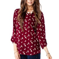 ShopSosie Style : Bateau Neck Blouse in Sparrow
