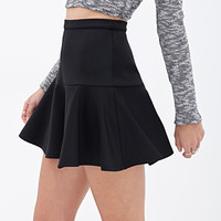 Fluted Mini Skirt