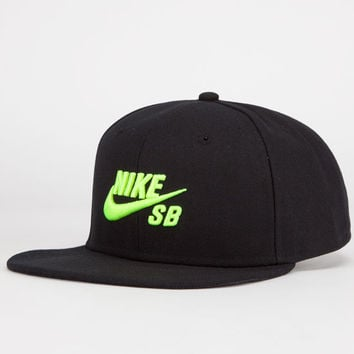 Nike Sb Icon Mens Snapback Hat Black One Size For Men 23772210001