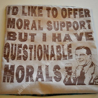 Questionable Morals Pillow Talk Beige by everlastingdoodle