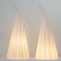 Pair of Vistosi Murano Glass Lamps