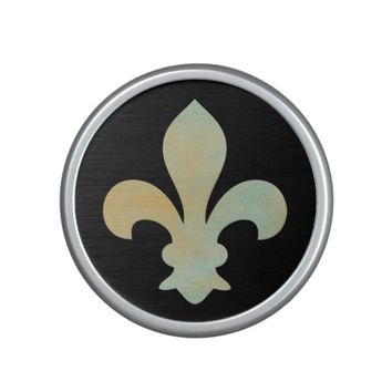 Aqua Gold Fleur de Lis Bluetooth Speaker