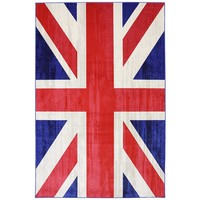 Woven Indoor/Outdoor Union Jack Jockey Rug