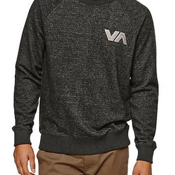 RVCA Chev Patch Crew Fleece - Mens Hoodie - Black -