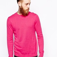 ASOS Crew Neck Jumper In Cotton at asos.com