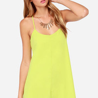 Born To Dance Chartreuse Dress