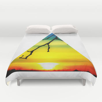 Sundown Spectrum Duvet Cover by DuckyB (Brandi)