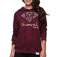 Diamond Supply Co Diamond Pullover Hoodie - Womens Hoodie - Red -