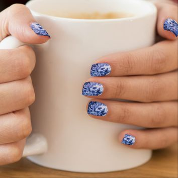 Blue Water Minx Nail Art