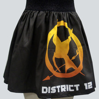 District 12 Katniss Inspired Full Skirt