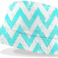 sparkly mint chevron created by bunny noir | Print All Over Me