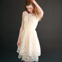Josie - lace dress with 2 tier skirt - SALE - ETSY Exclusive