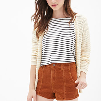High-Waisted Corduroy Shorts