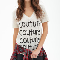 Linen V-Neck Couture Tee