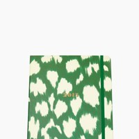 Set the Stage 17-month Large Agenda - Green Painterly Cheetah - kate spade new york