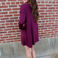 Burgundy Piko Tunic/Dress