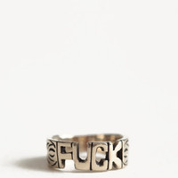 Fuck Word Ring By Jen's Pirate Booty - $26.00 : ThreadSence.com, Your Spot For Indie Clothing  Indie Urban Culture