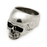 Meta Skull Pewter Ring