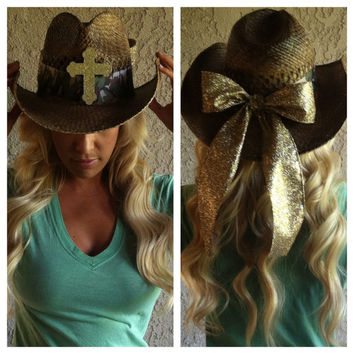 Camo Cross Themed Cowboy Hat