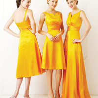 A-line Jewel Taffeta Bridesmaid Dress