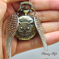 SaleSteampunk Harry Potter Flying OWL WATCH by Shininggift on Etsy