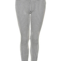 Tall Gingham Jacquard Treggings - Cream