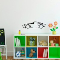 Cartoon Hero Car Vinyl Decal Sticker Art Design Room Picture Elegancy Hall Wall 422