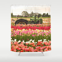 Deere in the Field Shower Curtain by Hoshizorawomiageteiru | Society6