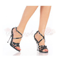 Casual Peep Toe Patent Leather High Heels Summer Sandals [TQL120323035] - £44.59 :