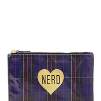 Plaid Nerd Cosmetic Pouch