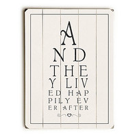 "20"" And They Lived Wall Sign"