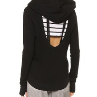 High Low Cutout Hoodie