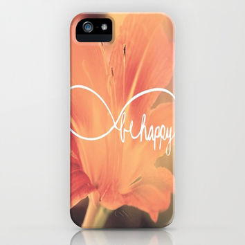Be happy iPhone & iPod Case by Laura Santeler