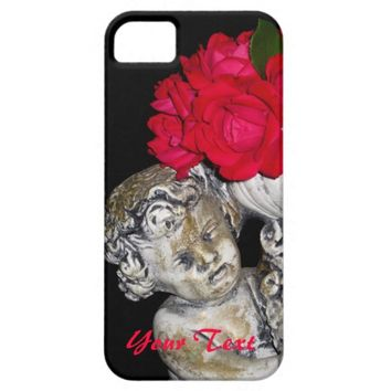 Roses Cherub Statue iPhone 5/5s Case