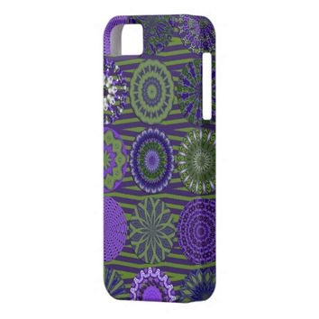 Kaleidoscope Fun, Purple-Green iPhone 5/5s Case