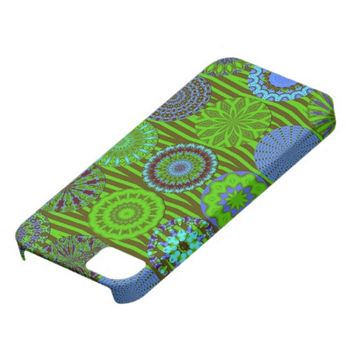 Kaleidoscope Fun, Blue-Green iPhone 5/5s Case