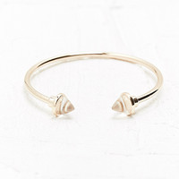 Crystal Triangle Stone Cuff in Gold - Urban Outfitters
